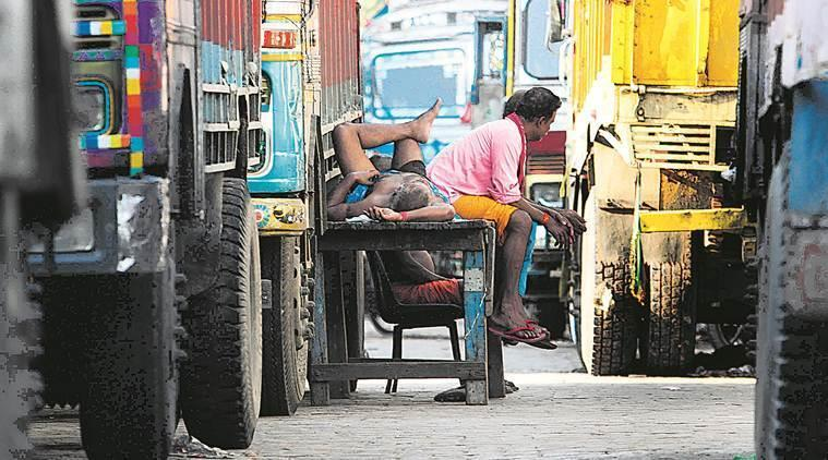 Truckers' strike over GST on fuel enters 3rd day in West Bengal