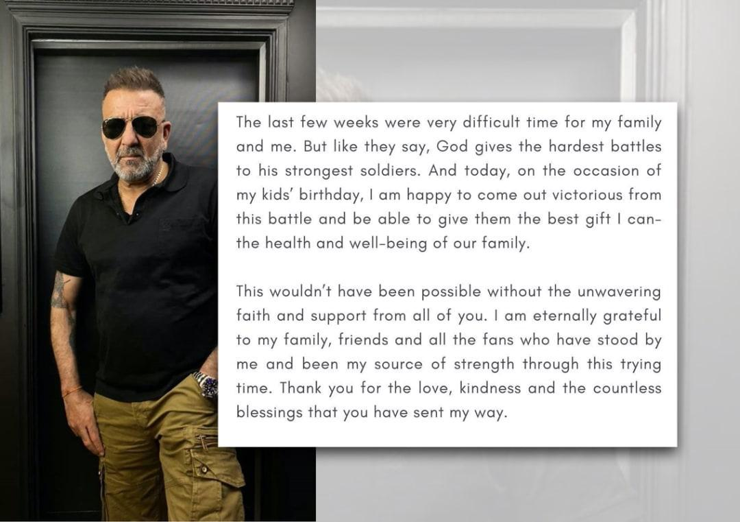 Sanjay Dutt, who was diagnosed with cancer in Aug, reveals ...